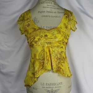 Anthr Yellow Top by Sweet Pea's Stacy Frati Size m